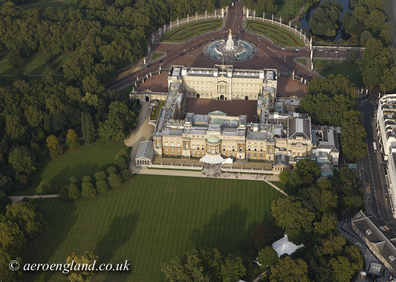 aerial photo of           Buckingham Palace London