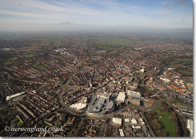 aerial photograph of Derby