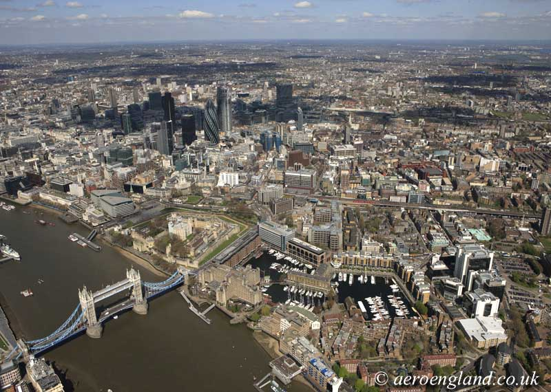 aerial photograph of London