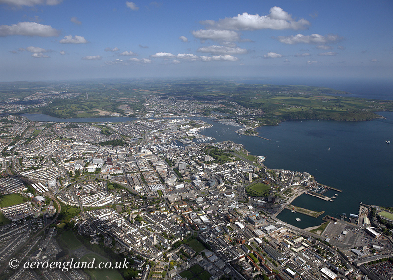 aerial photograph of Plymouth