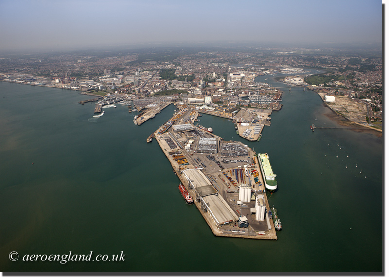 aerial           photograph of Southampton