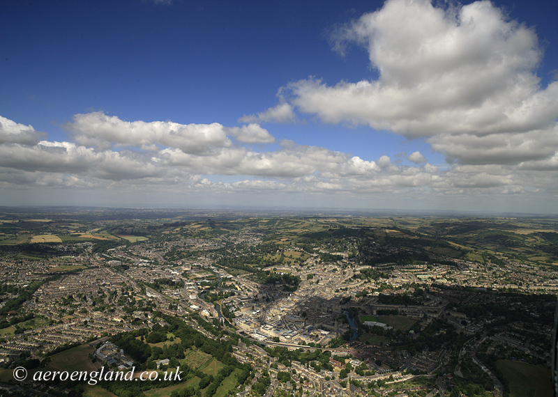 aerial photograph of Bath