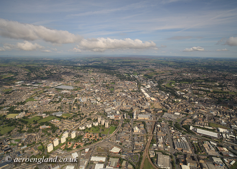 aerial photograph of Bradford