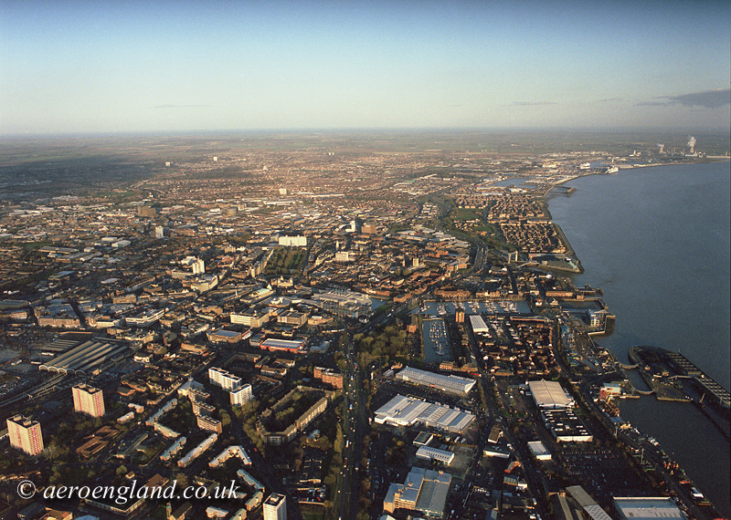 aerial photograph of Hull