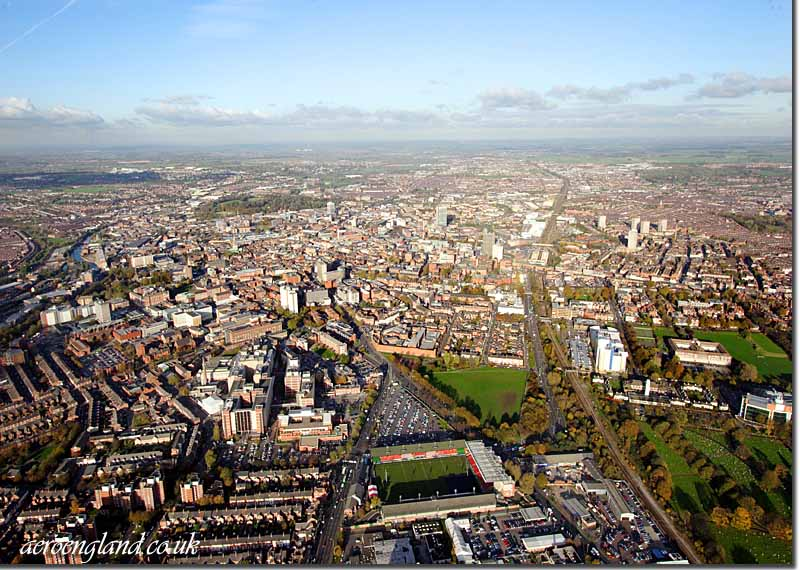 aerial photographs of           Leicester