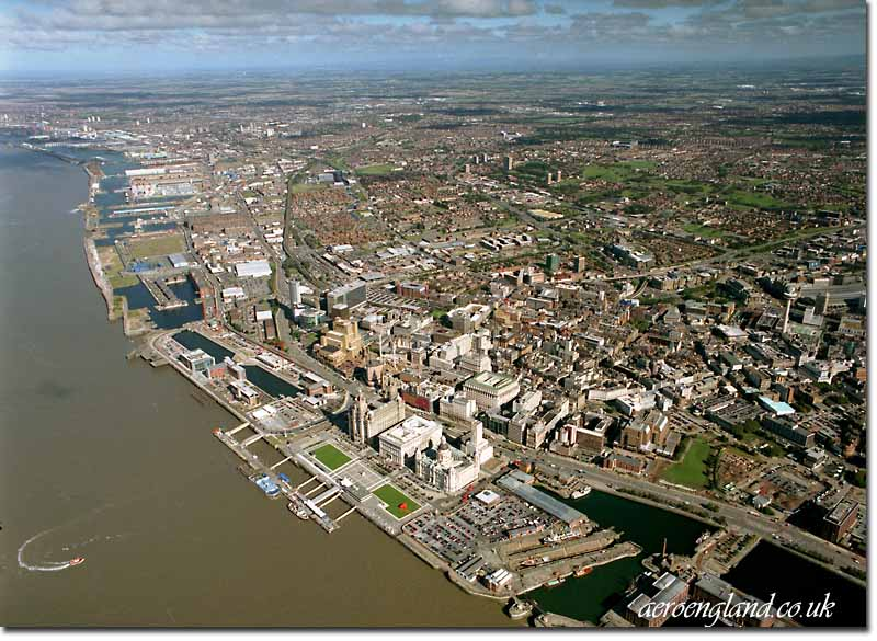 aerial photographs of Liverpool