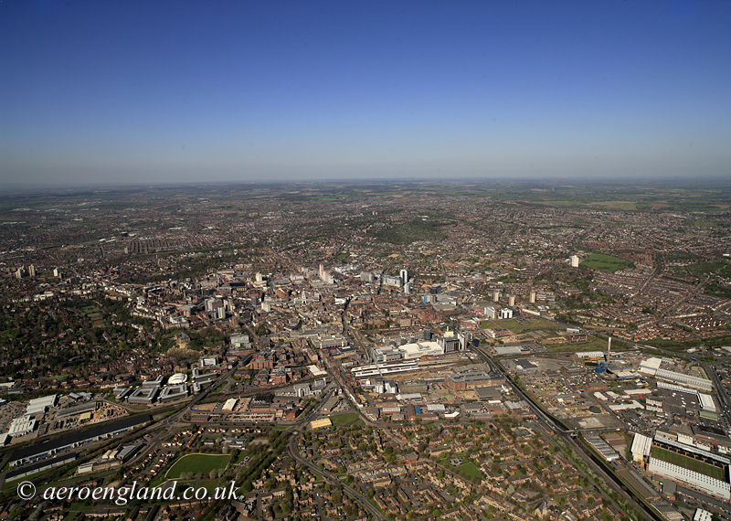 aerial photograph of Nottingham