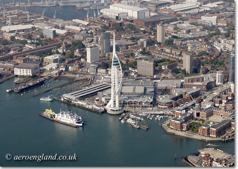 aerial photograph of Portsmouth