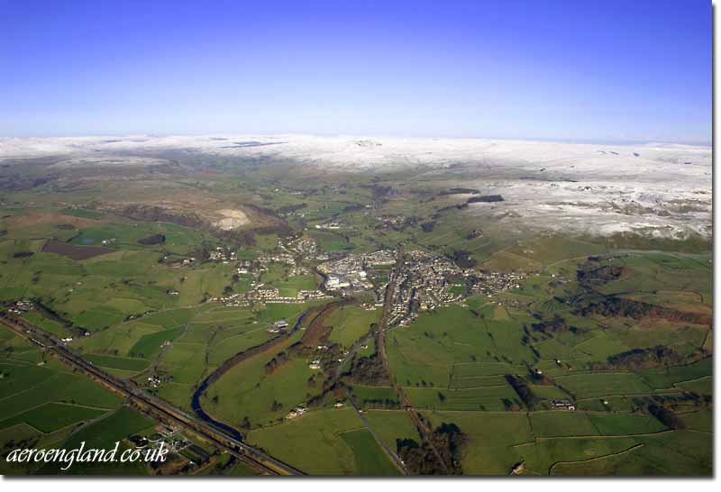 aerial photographs of Settle,           Yorkshire