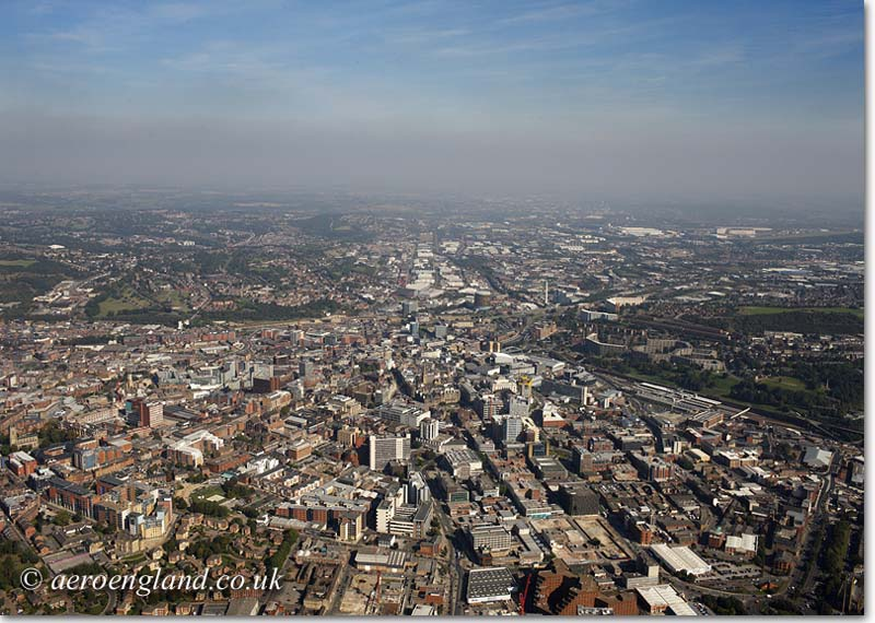 aerial photograph of Sheffield