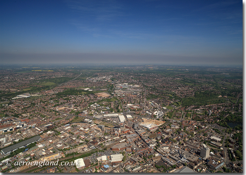aerial photograph of Walsall