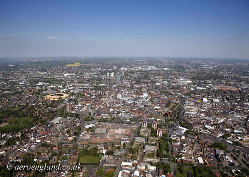 aerial photographs of           Wolverhampton